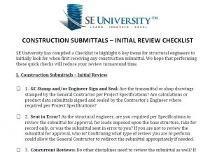 Initial Review Checklist - Available to SE University Clients through their SEU Resource Center Account